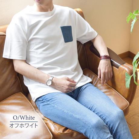 CREATION CUBE 接触冷感 フクレジャガード ポケ付き Tシャツ 0403200-20(オフホワイト)