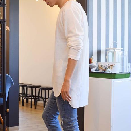 CREATION CUBE ロング丈 長袖 ワッフル Tシャツ 0402900-21(グレー)