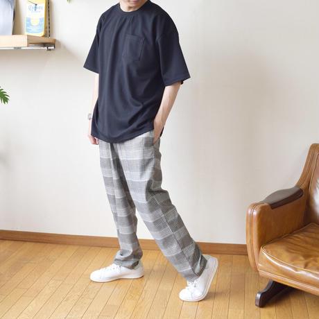 ボンディング天竺裏配色BIG-T 0703803-12(ベージュ×ブラウン)