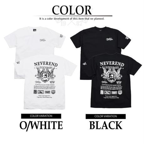 バイカー プリント Tシャツ  9683101-41(ブラック)