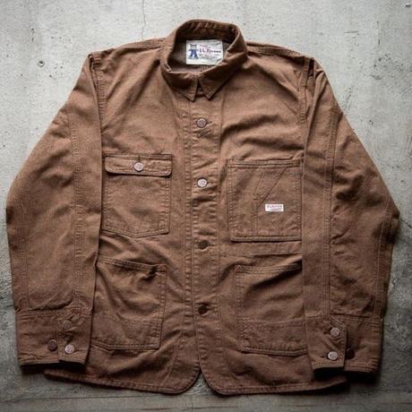 【お取寄せ可能】 TABBYS JACKET 10oz TWISTED YARN BROWN DENIM