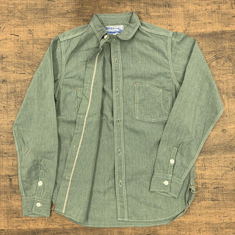 TCB jeans Catlight Shirts Covert Green Chambray