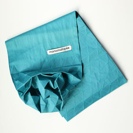 marumasu/折り紙スカーフ-ORIGAMI SCARF monomatopee/turquoise