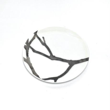 hakuji 白磁 豆皿 -流木|White Porcelain mamezara-Small Dish Plate/Driftwood