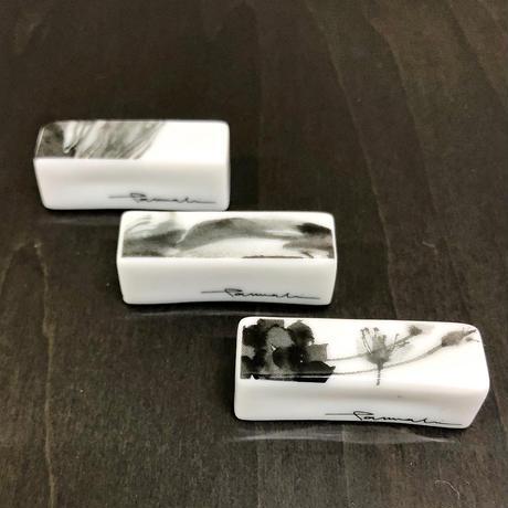 hakuji/箸置きキャラメル型_アーティチョーク/porcelain chopstick rest-Artichoke