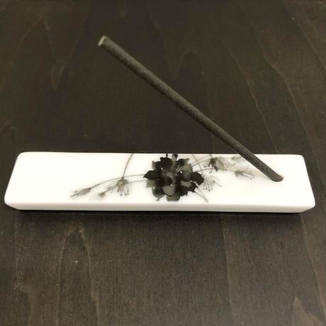 hakuji/ko-tate-porcelain incense Set香立てセット_野蒜/Wild rocambole
