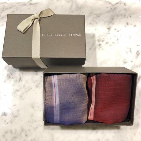 orit. -kin gift set A red+blue beige /オリット キン ギフト セット A  red+blue beige