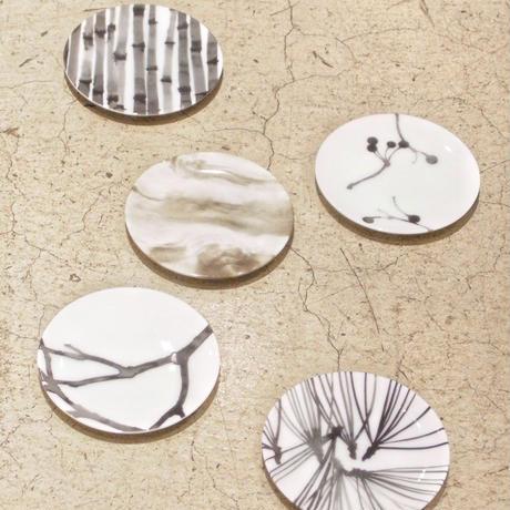 hakuji 白磁 豆皿 -木皮|White Porcelain mamezara-Small Dish Plate/Bark