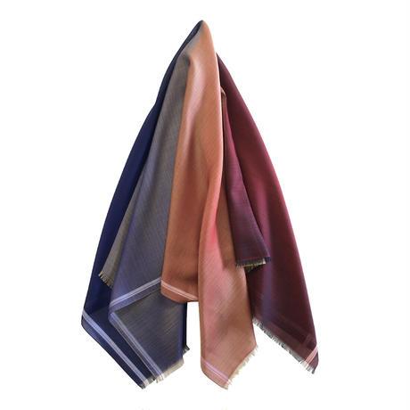 orit.- azuma. scalf  blue&red/オリット - アズマ.  スカーフ ブルーx レッド