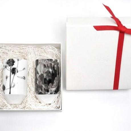 hakuji 白磁 麦杯 -花ズッキーニ|White Porcelain Mugihai/Cup -Zucchini Flowerr