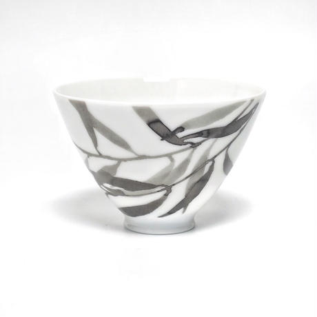 hakuji 白磁 小付け -葉|White Porcelain Kozuke-Small Bowl/Leaves
