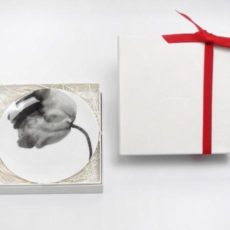 hakuji 白磁中皿 -鉄線|White Porcelain plate M-Clematis