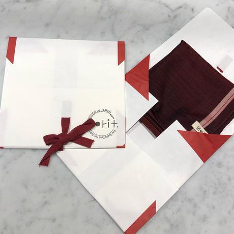 orit.-kin multi purpose chief red /オリット - キン  織柄グラデーションマルチチーフ  ブラック