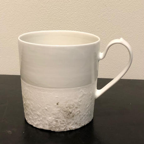 矢萩 誉大/Takahiro Yahagi -磁器マグ/porcelain mug scratch_y20-2-4/White & Black※在庫切れの場合随時納期をご案内します。