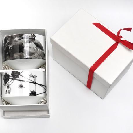 hakuji 白磁 碗 -野蒜 |White Porcelain bowl -Nobiru/Wild rocambole