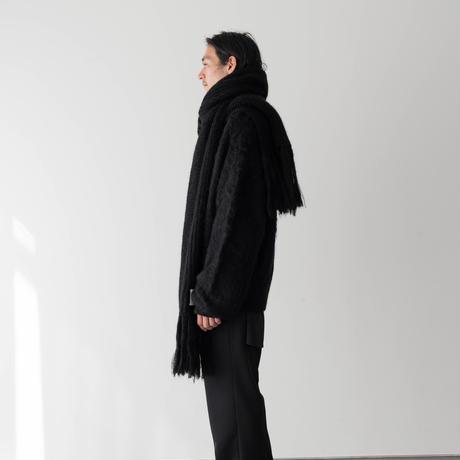 【BLACK】LOW GAUGE MOHAIR STOLE .004