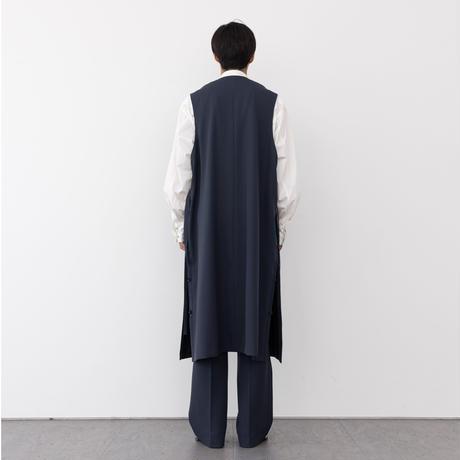 【NAVY】SLEEVELESS LONG COAT .004