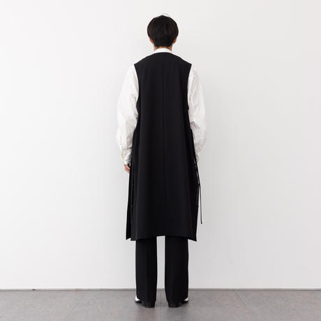 【BLACK】SLEEVELESS LONG COAT .004