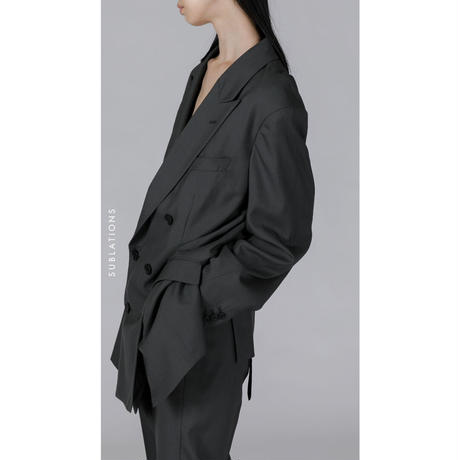 GRAY 6-BUTTON DOUBLE BREASTED JACKET .001