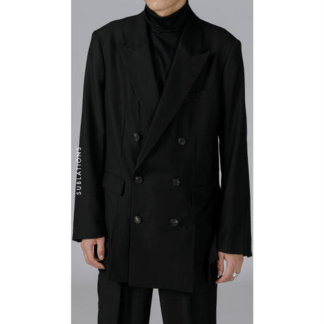 6-BUTTON DOUBLE BREASTED JACKET .001 BLACK