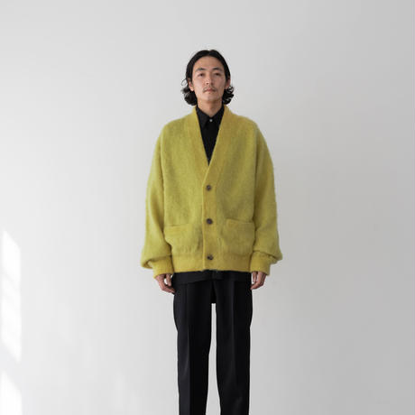 【YELLOW】LOW SILHOUETTE MOHAIR CARDIGAN .004
