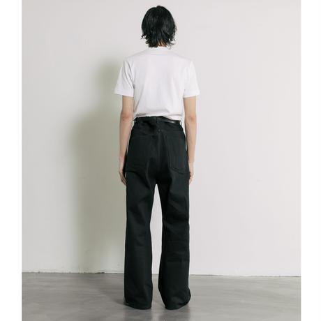 【INDIGO】2TUCK WIDE DENIM PANTS -ENTASIS- .003
