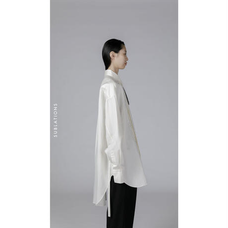 DOUBLE BREASTED BELTED SHIRT .001