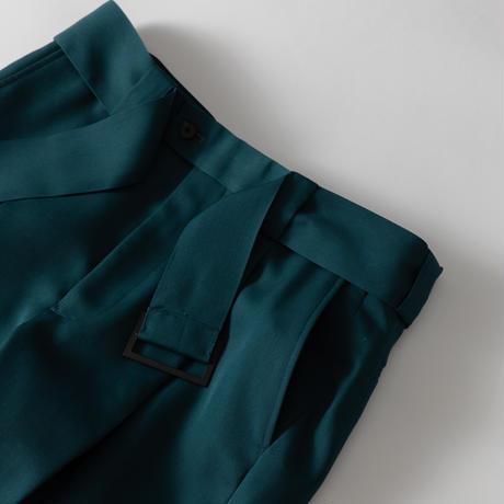 【S.BLUE】WOOL GABARDINE ONE TUCK STRAIGHT TROUSERS .004