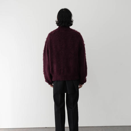 【BOURDEAX】LOW SILHOUETTE MOHAIR CARDIGAN .004