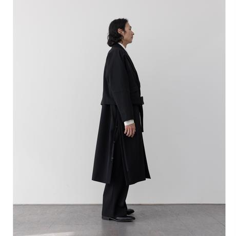 【BLACK】 HEAVY WOOL GABARDINE BATTLE DRESS JACKET .004