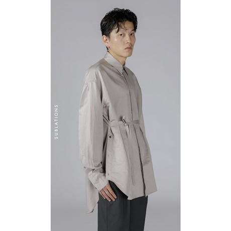 SINGLE FRONT BELTED SHIRT .001