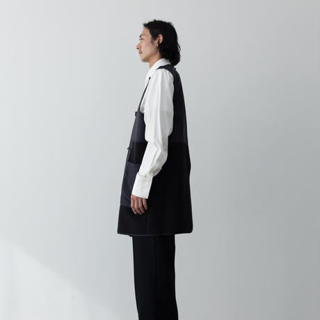 【NAVY】COTTON SILK OFFICER TRENCH COAT .004