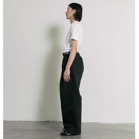 【BLACK】2TUCK WIDE DENIM PANTS -ENTASIS- .003