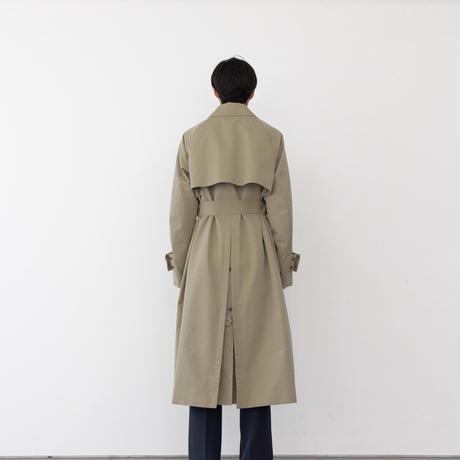 【BEIGE】COTTON SILK OFFICER TRENCH COAT .004