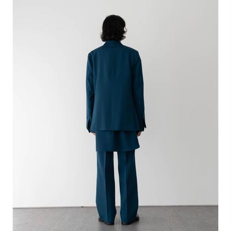 【S.BLUE】WOOL GABARDINE DOUBLE BREASTED JACKET .004