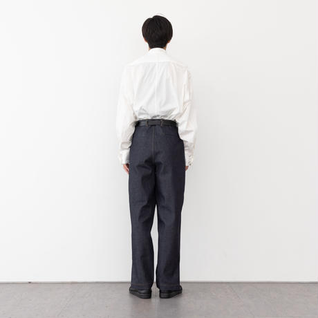 【INDIGO】DENIM TAPERED TROUSERS .004