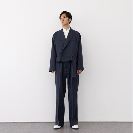 【NAVY】 HEAVY WOOL GABARDINE BATTLE DRESS JACKET .004