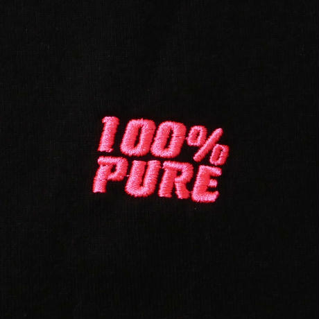 """100% PURE CROPPED SLEEVE TEE """"NEON PINK"""""""
