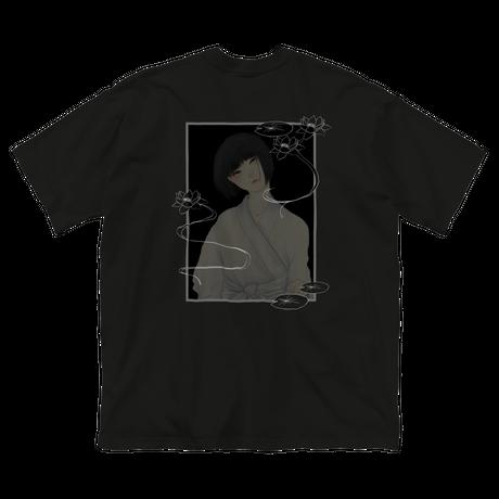 幽霊春画:半袖Tシャツ(黒)