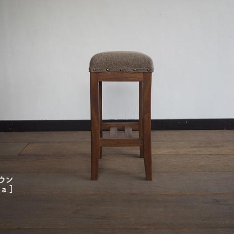 欅材の角スツール [ブラウン]