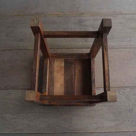 栗材の角スツール [b]