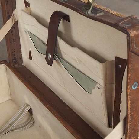 ラッシュ編みのトランク(鍵付き)