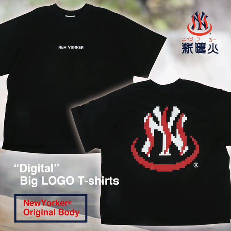 """Digital""Big LOGO ""Original Body""T-Shirts"