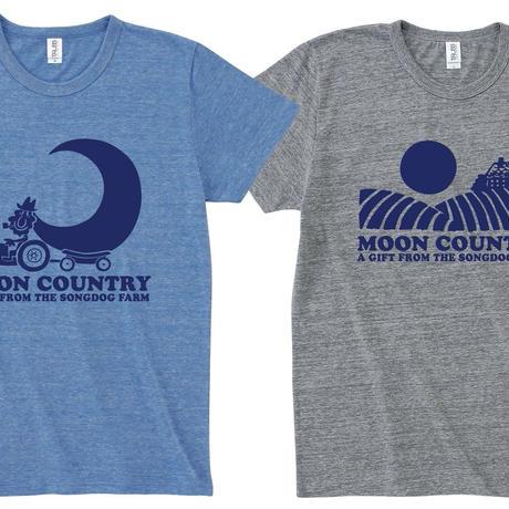 FULL MOON  T-Shirts Gray×Navy M