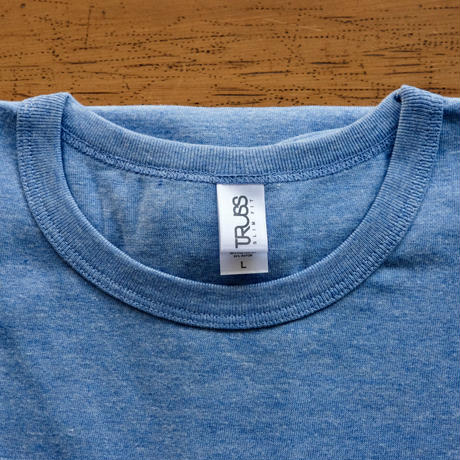 FULL MOON T-Shirts Light Blue×Blue L
