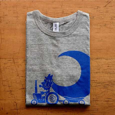 TRACTOR T-Shirts Gray×Blue S