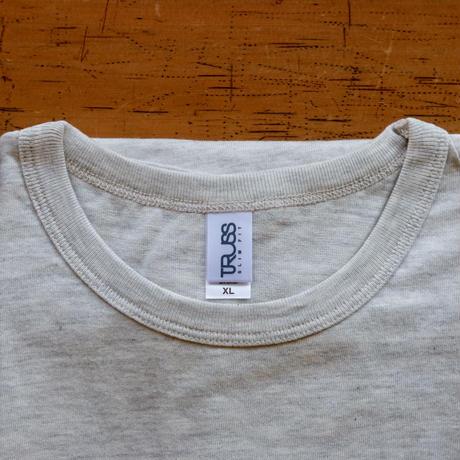 FULL MOON T-Shirts Oatmeal×Blue Purple XL