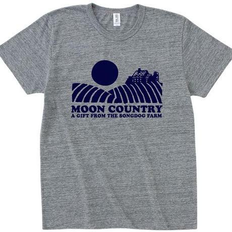FULL MOON T-Shirts Gray×Navy S
