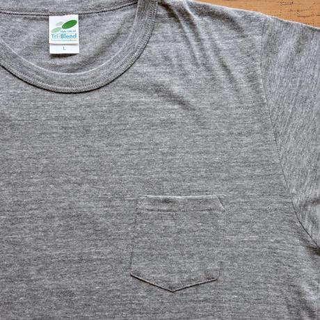 FULL MOON  Pocket T-Shirts Gray SIZE:L