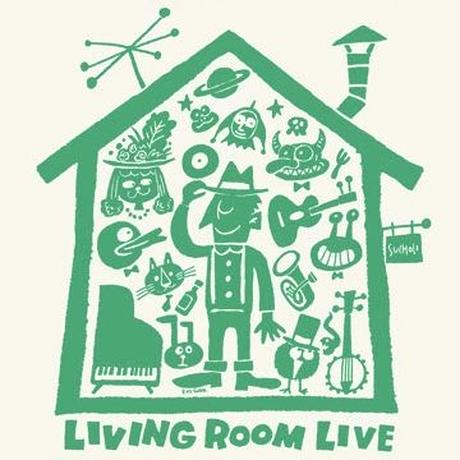LIVING ROOM LIVE T-Shirts White×Green  S